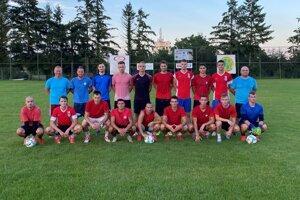 Futbalisti Kováčovej po jednom z predsezónnych tréningov.