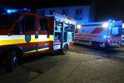 Požiar domova dôchodcov v Zemianskych Kostoľanoch.