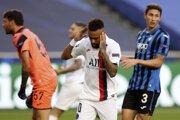 Neymar v zápase Atalanta - PSG.