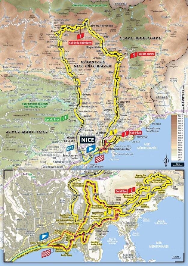 2. etapa na Tour de France 2020 - mapa.