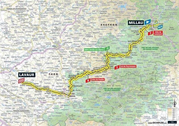 7. etapa na Tour de France 2020 - mapa.