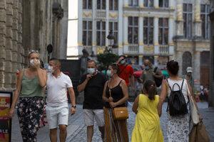 Ulica v Bruseli.