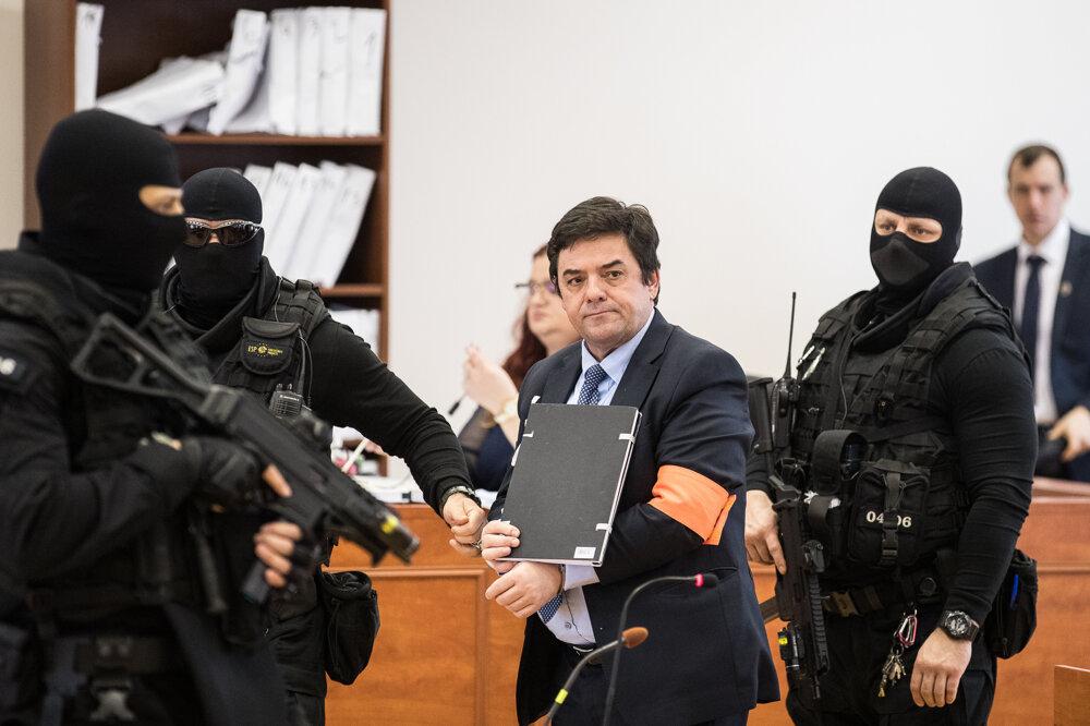 3. február 2020. Marian Kočner na súde.