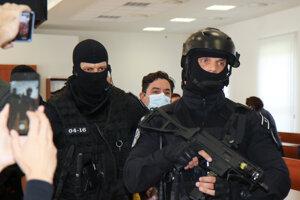 Obvinený Marián Kočner po vynesení rozsudku v kauze vraždy Jána Kuciaka a Martiny Kušnírovej na Špecializovanom trestnom súde v Pezinku.
