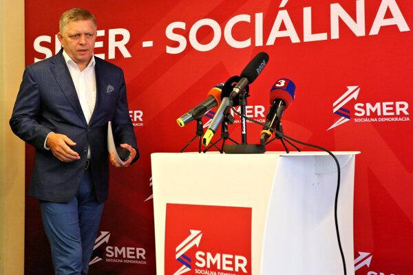 Robert Fico, predseda strany Smer - sociálna demokracia.