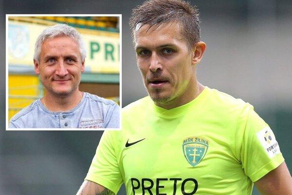 Šéf prievidzského futbalu Róbert Šuník (vľavo) administratívne vybavil príchod zvučného Filipa Hlohovského. Už len aby skutočne nastúpil...