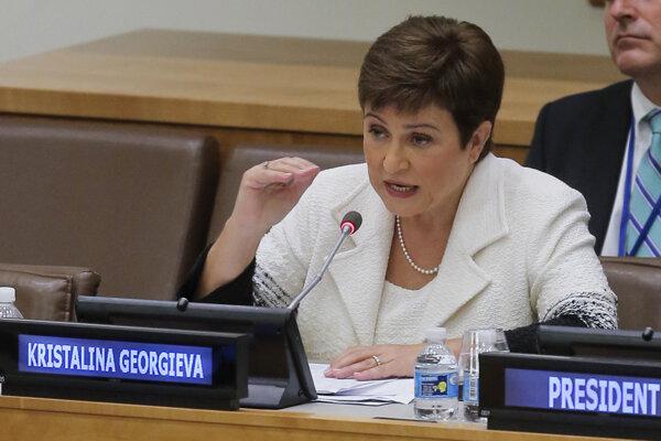 Šéfka Medzinárodného menového fondu Kristalina Georgievová.