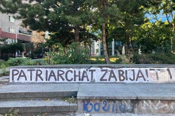 Nápis v centre Bratislavy