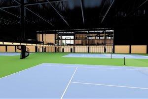 V hale sa má nachádzať 6 tenisových dvorcov s umelým povrchom.