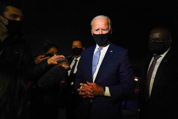 Kandidát Demokratickej strany na prezidenta Spojených štátov Joe Biden.