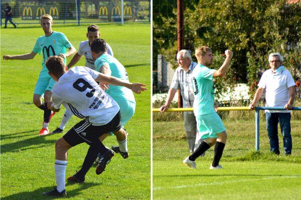 Na snímkach sú aj dvaja autori domácich gólov - Dominik Civáň a Eduard Moravčík.
