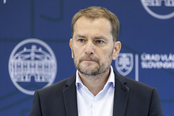 Premiér Igor Matovič (OĽaNO).