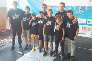 Starší a mladší žiaci Olympie Bobrov.