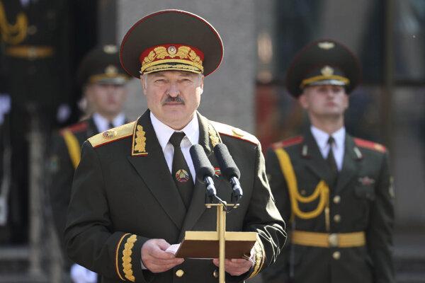 Bieloruský prezident Alexandr Lukašenko počas inaugurácie.