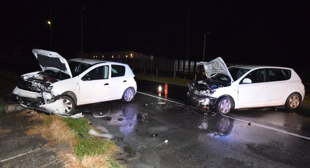 Po nehode pri Moldave.