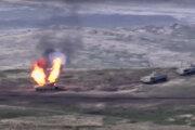 Boje v separatistickom regióne Náhorný Karabach v Azerbajdžane.