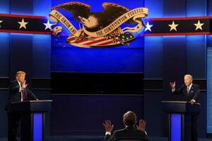 Trump a Biden sa stretli v prvej prezidentskej debate.