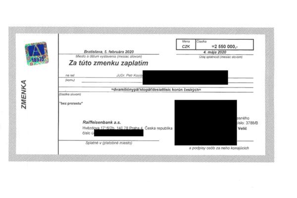 Zmenka Arca Investments na 2,55 mil. českých korún.