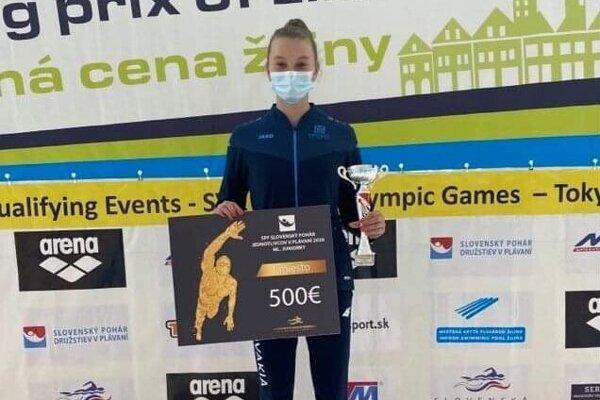Lilian Slušná po víťazstve vSlovenskom pohári.