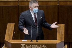 Predseda SmeruRobert Fico.