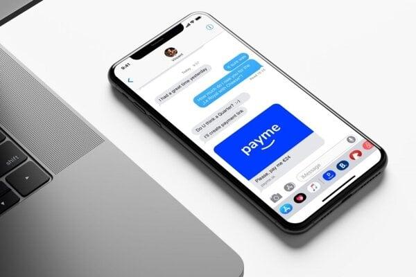 Aplikácia Payme.