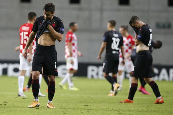 Slavia Praha prehrala v Európskej lige proti Hapoel Beer Ševa.