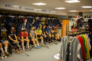 Martinská hokejová kabína je už aktuálne prázdna.