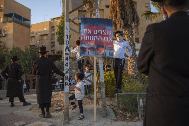 Ortodoxní Židia v izraelskom meste Arad.