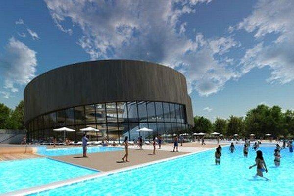 Takto má vyzerať bazénová hala na kúpalisku v Nitre.