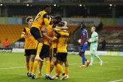 Wolverhampton Wanderers oslavuje gól.