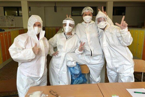 Z jednej z testovacích miestností v Trnave.