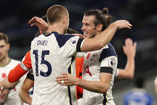 Gareth Bale v drese Tottenhamu.