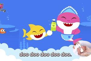 Baby Shark učil deti aj, ako si umývať ruky. Spoločnosť Pinkfong vydala viaceré verzie piesne.