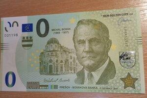 Nulová bankovka s Michalom Bosákom.