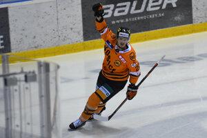 Pavel Klhůfek z HC Košice po strelenom góle.