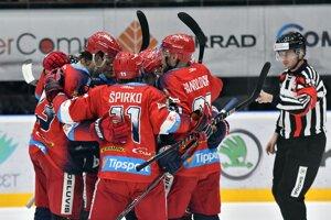 Hokejisti HKM Zvolen - ilustračná fotografia.