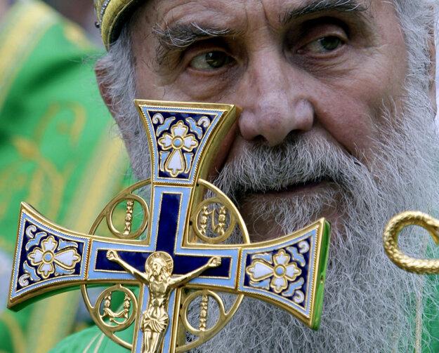 Patriarcha Irinej na archívnej snímke z mája 2012.