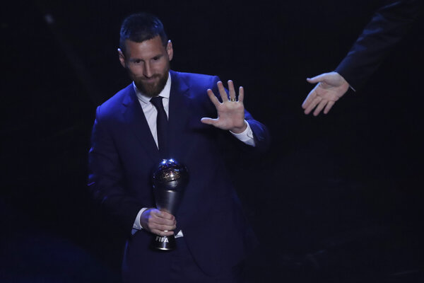 Lionel Messi počas vyhlasovania víťazov ankety Best FIFA Football Awards 2019.