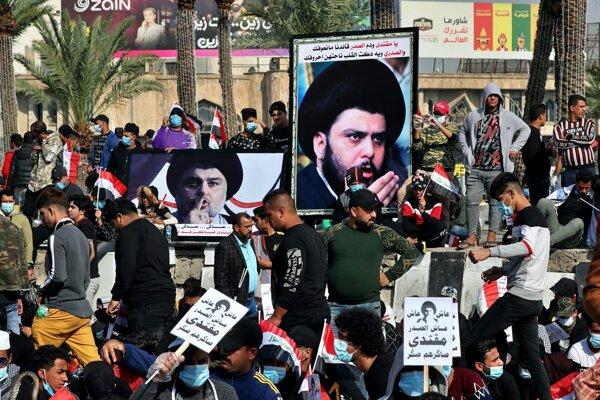 Stúpenci šiitského duchovného zaplavili ulice Bagdadu