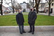 Igor Válek (vľavo) a Peter Cabadaj, ktorí zastrešujú projekt kandidatúry Martina na Európske hlavné mesto kultúry 2026.