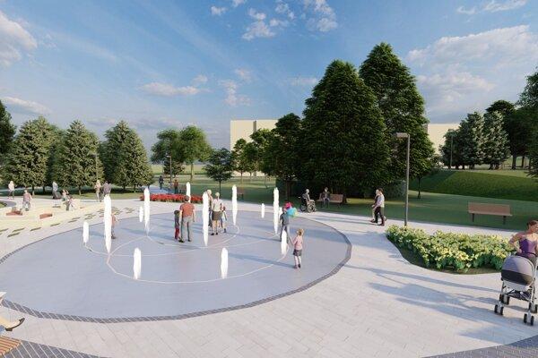 Nová vizáž Katkinko parku. Terasania zmenu vítajú, chcú najmä zachovanie zelene, pretože tú si na sídlisku najviac cenia.