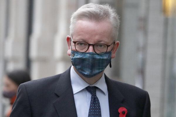 Šéf úradu britskej vlády Michael Gove.