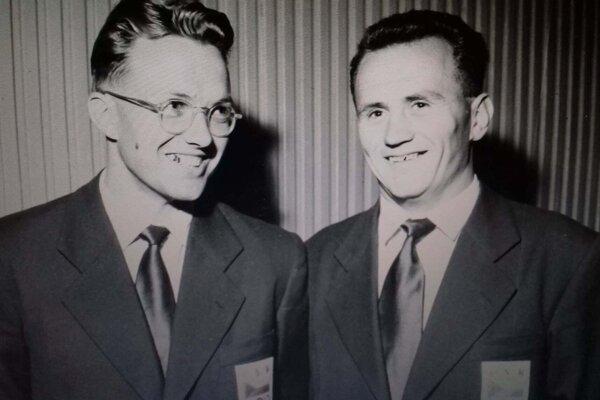 Albert Krajmer vpravo spolu spartnerom zdvojskifu Františkom Reichom.