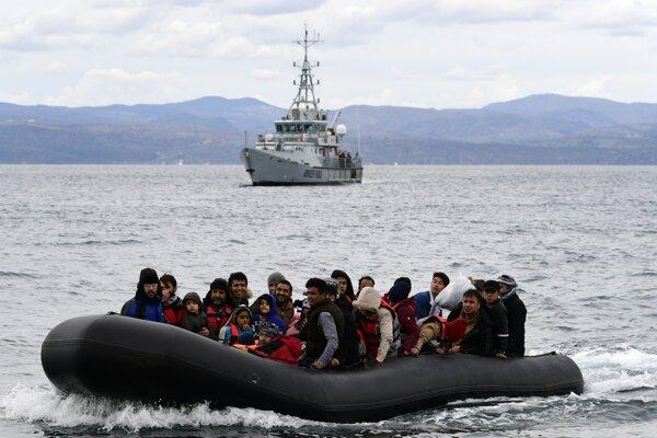 Záchranná akcia pri Lesbose.