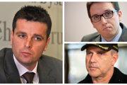 Boris Beňa, Daniel Čech a Milan Lučanský.