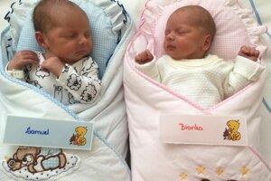 Samuel a Bianka Šimkoví z Prievidze sa narodili 3. novembra v Bojniciach
