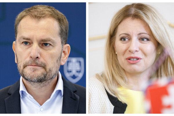 Dvaja rivali. Premiér Igor Matovič a prezidentka Zuzana Čaputová.
