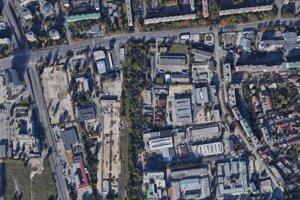 Lokalita, v ktorej má vyrásť obchodné centrum Prievoz.