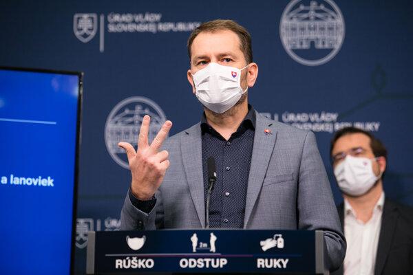 Premiér Matovič hovorí o opatreniach.