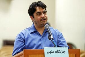 Na archívnej snímke z 2. júna 2020 novinár a predstaviteľ exilovej opozície Rúholláh Zam.